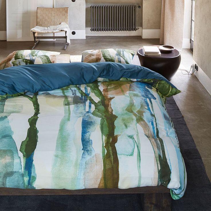 Essenza Mako-Satin Wendebettwäsche Yono green online kaufen