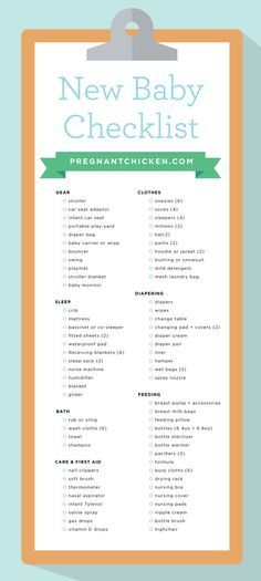 The 25+ Best New Baby Checklist Ideas On Pinterest | Baby List