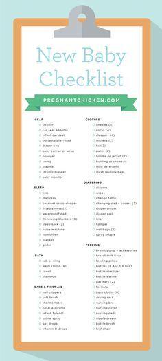 The 25+ best New baby checklist ideas on Pinterest Baby list - newborn checklist