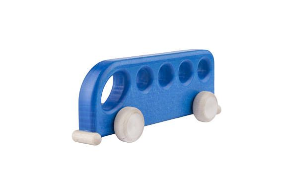 Wooden Toy Wooden Car Bus SAFE Wood Eco Toy Natural Toy