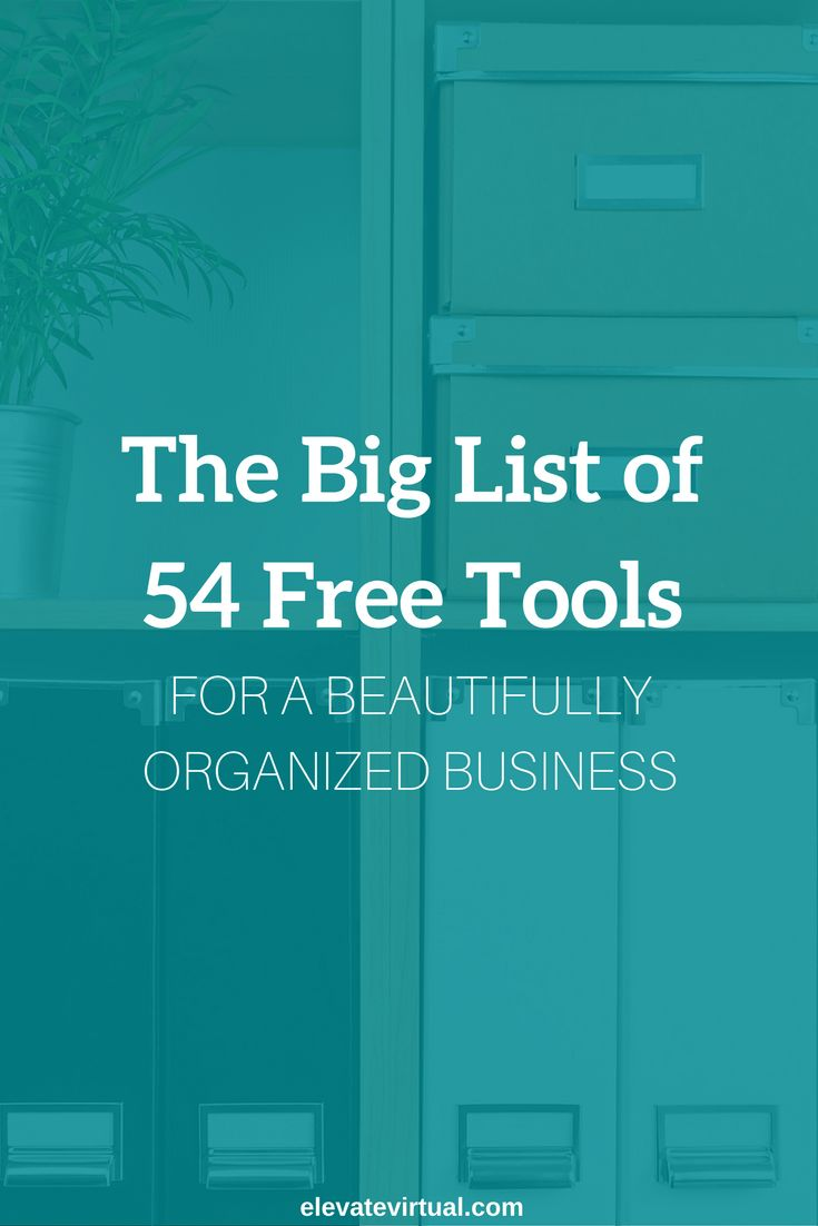 Use this list of free tools to help you create an organized online business (+ Download the FREE 5 step guide to setting up your biz systems!)