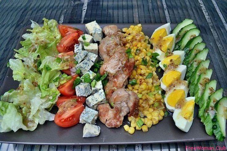 Кобб Салат, кобб салат рецепт, кобб салат фото, американский салат
