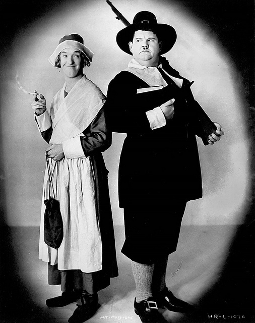 Laurel and Hardy--two hapless Pilgrims.