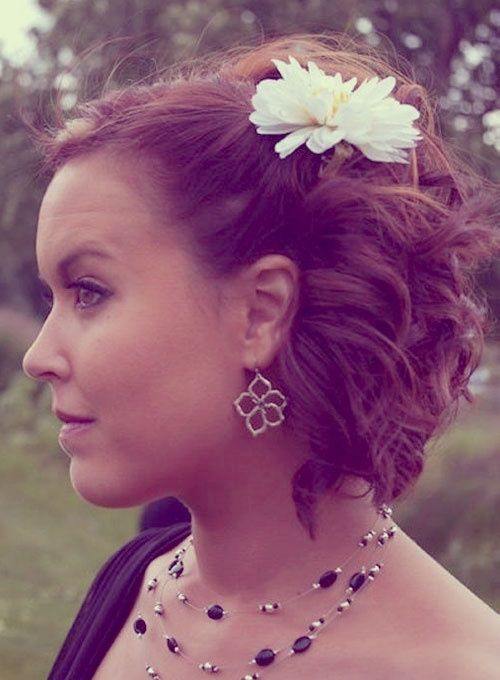 Short Hair Updos for Weddings | half-updo-hairstyles-short-hair.jpg by Debi2022