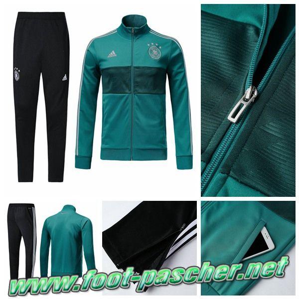 Les Nouveaux Adidas Survetement Homme Veste Allemagne Vert