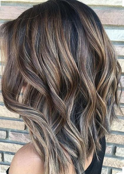 Bronde dimensional foil highlights