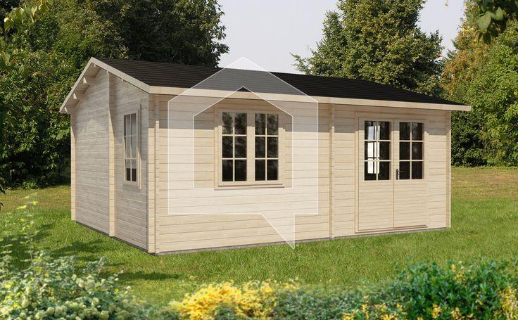 Pomyśleliśmy o możliwości przenocowania w ciepłe letnie dni, dlatego wydzieliliśmy pomieszczenie na sypialnie. Naszym zdaniem to świetne rozwiązanie na weekendy w ogrodzie.