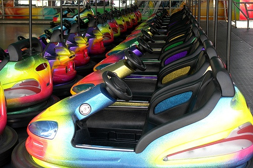 Bumper car programs are available to bring to campus. Ask us!