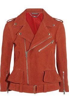 Alexander McQueen Matte textured-leather jacket