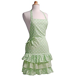 @Overstock - A flirty polka dot print and ruffle hem highlight this beautiful 'Mint-a-liscious' apron from Flirty Aprons. This apron is constructed of 100-percent cotton for ease of care.http://www.overstock.com/Home-Garden/Flirty-Aprons-Marilyn-Mint-a-liscious-Apron/5555936/product.html?CID=214117 $20.99