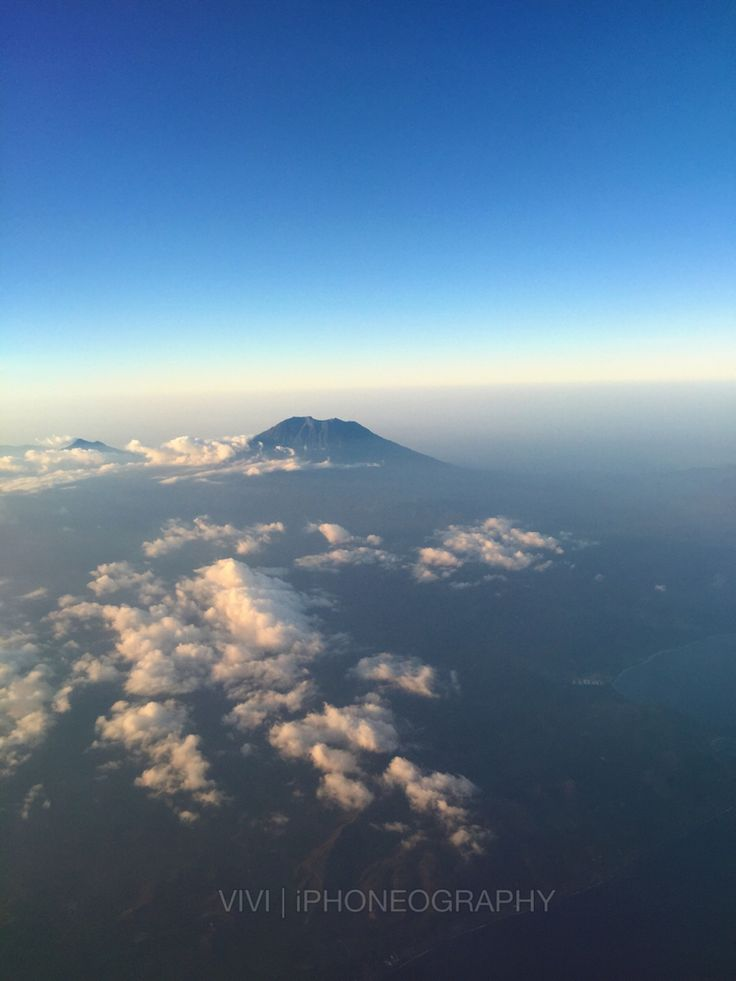 Mount Agung, Bali - Indonesia as seen from my seat aboard Garuda Indonesia flight to Denpasar, Bali.