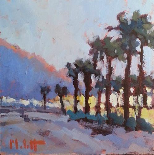 "Daily Paintworks - ""Palm Tree Love Beach Landscapes Heidi Malott Original Art"" - Original Fine Art for Sale - © Heidi Malott"