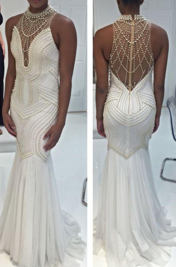 best 25 white mermaid prom dress ideas on pinterest