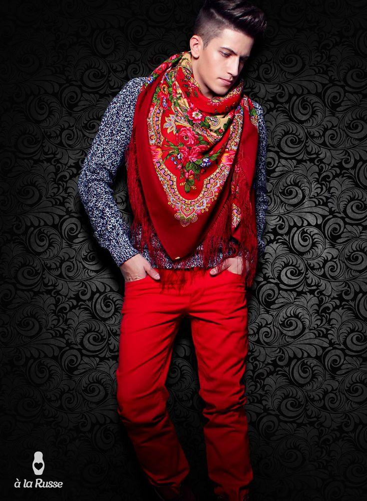 russisches tuch shawl man männer schal
