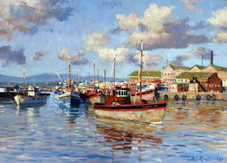 "Artist: Roelof Rossouw South African Painter.""Nautical Scenes"""