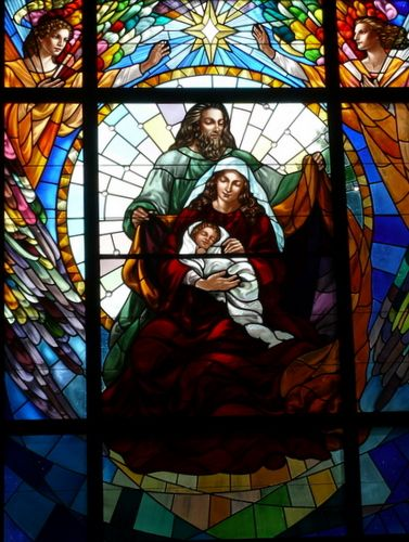 Mary, Joseph , the Christ child and the Heavenly Hosts, Lenexa, KS