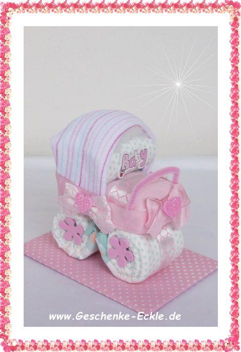 mini kinderw gelchen aus nur 4 windeln und 2 baby. Black Bedroom Furniture Sets. Home Design Ideas