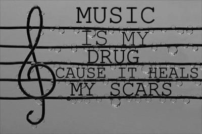 Music heals all my emotional scars that wont go away with time