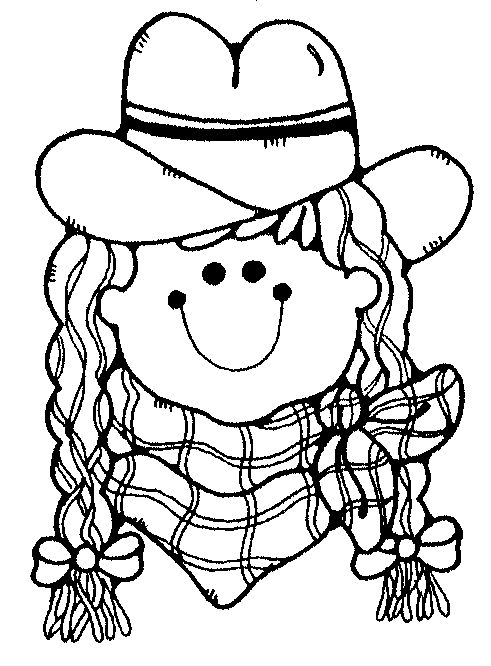 coloring page - Cowboy Cowgirl Coloring Pages
