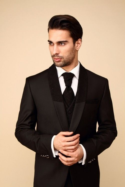 85828b4906710d Latest Coat Pant Designs Black Pattern Men Suit Slim Fit 2 Piece Groom  Tuxedo Custom Stylish Suits Blazr Masculino Jacket+Pant