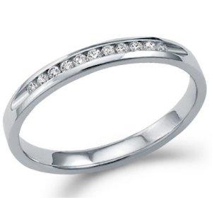 14k White Gold Round Cut Eleven Diamond Ladies Womens Channel Set 11 Stone Wedding or Anniversary Ring Band (1/8 cttw) (Jewelry)  http://balanceddiet.me.uk/lushstuff.php?p=B0044VD9N6  B0044VD9N6
