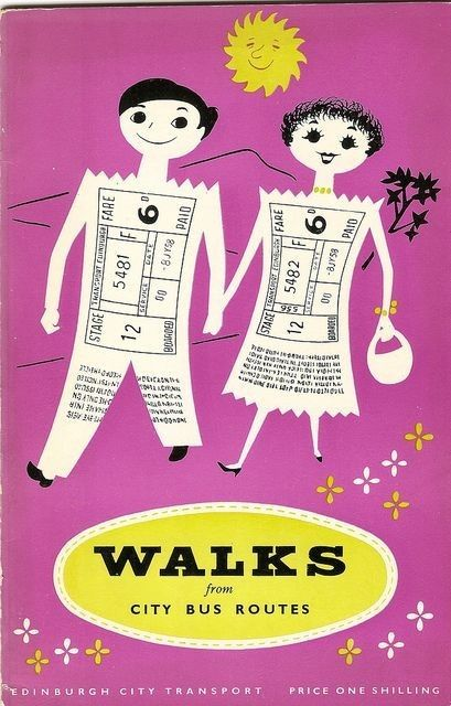 Edinburgh City Transport - walks from city bus routes booklet, c. 1958.