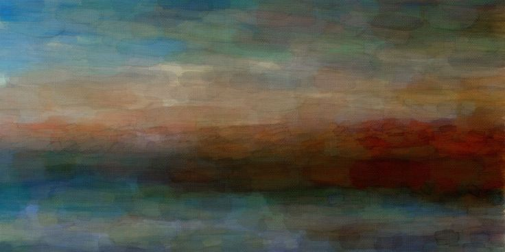 Parvez Taj Abstract Landscape Art Print on Premium Canvas 22 1/2 x 45 Home Decor Wall Decor Canvas Art