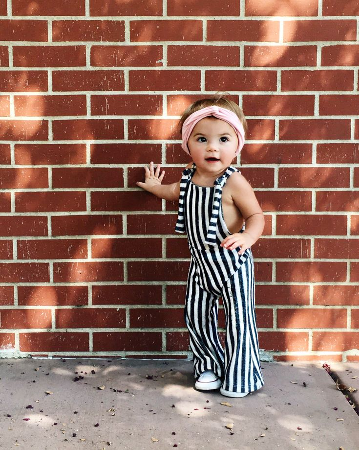 Baby girl, overalls, ootd, headwrap, @krista.horton