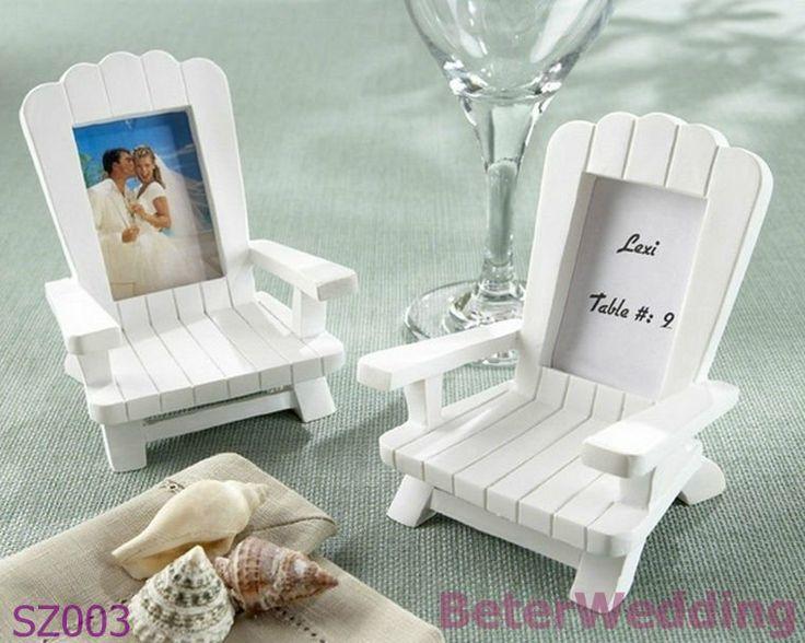 """Beach Memories"" Miniature Adirondack Chair Place Card, Photo Frame SZ003 Wedding Gift, Wedding Souvenir, Wedding Favor"