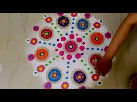 Rangoli And Art: Rangoli Using Bowls & Matchstick (Click image to w...