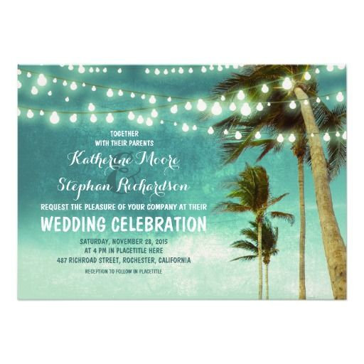 17 Best images about Beach Wedding Invitations – Modern Beach Wedding Invitations