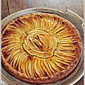 Tarte aux pommes à la crème d'amande