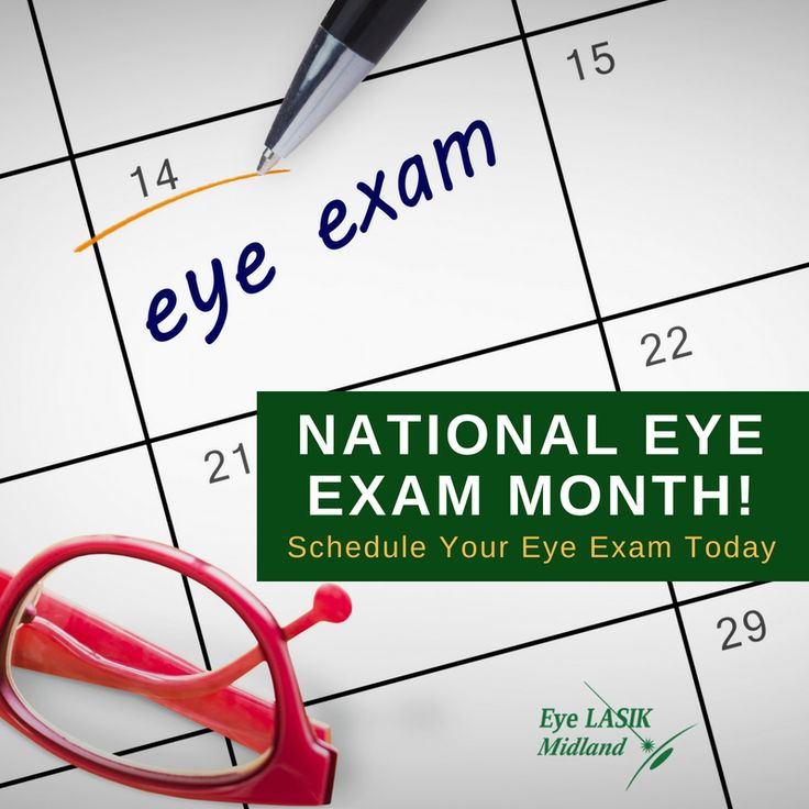 It's National Eye Exam Month in August so we'll be sharing