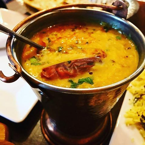 We recommend the Indian cuisine with the grain legumes. :D in the picture Masala Dal Fry Photograph taken by the wearer instagram elena _ Constantine _. http://www.namasteindia.pl/