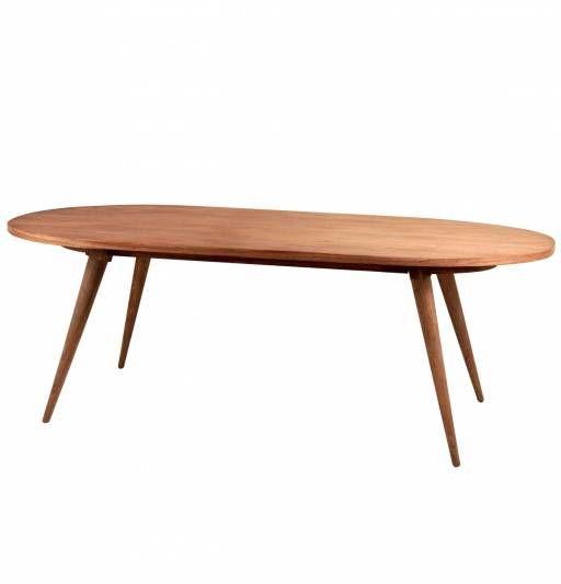 #Mesa ovalada #madera