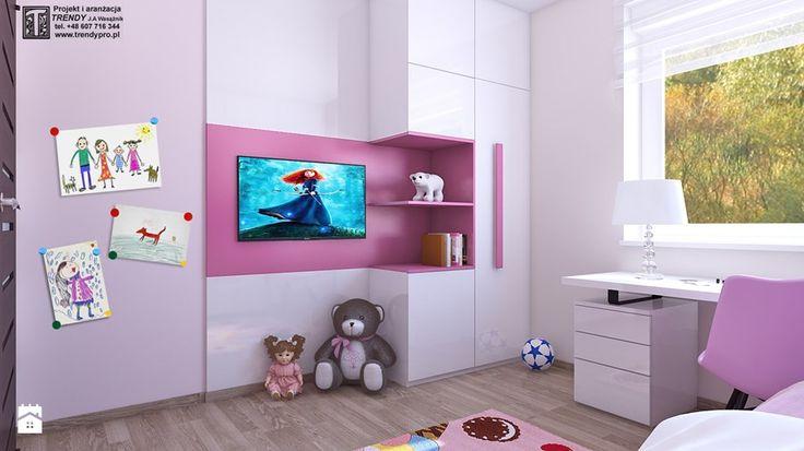 pokoj dziewczynki 1 - Średni pokój dziecka dla dziewczynki dla malucha, styl nowoczesny - zdjęcie od APP TRENDY Autorska Pracownia Projektowa