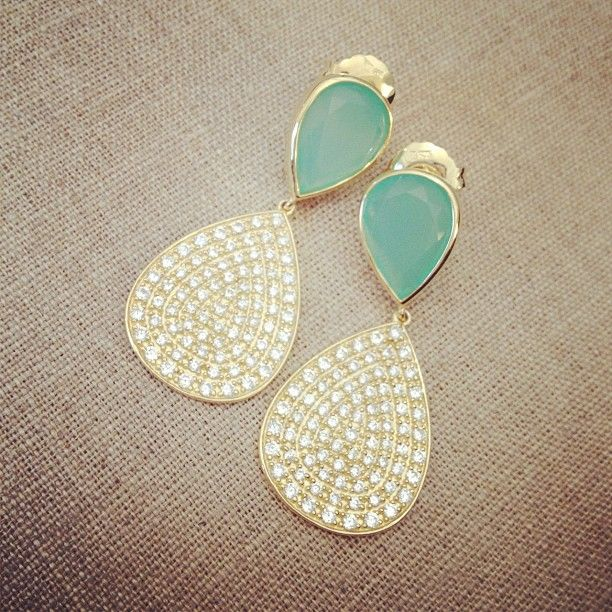 MAD Pave Earrings: Beautiful Earrings, Teardrop Earrings, Gorgeous Woman Jewelry, Pave Earrings, Mint Earrings, Cute Earrings, Jewelry Accessories, Beautiful Dresses, Turquoise Colors