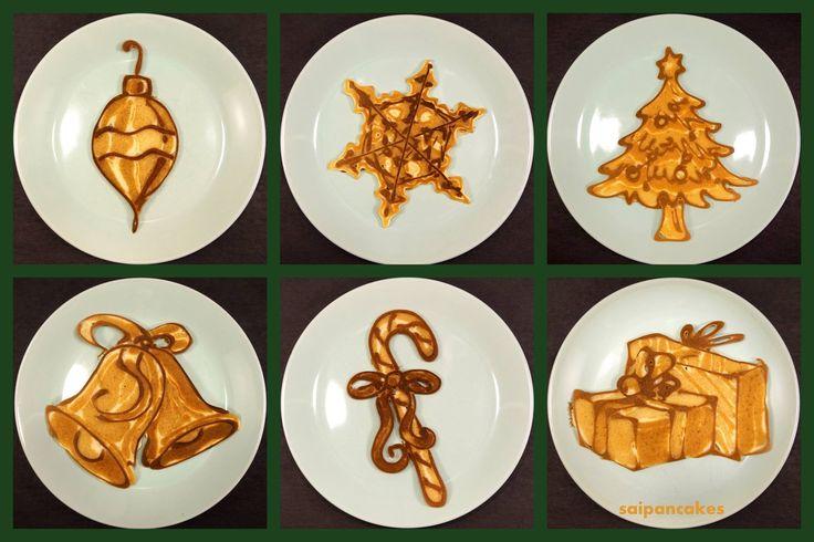 Awesome Christmas Pancakes Art by Nathan Shields | Inna Magazine Fantastic Christmas Pancake Ideas! http://www.innamagazine.com/christmas-pancakes-videos/