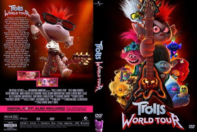 Trolls World Tour 2020 In 2020 Dvd Cover Design Custom Dvd Dvd Covers
