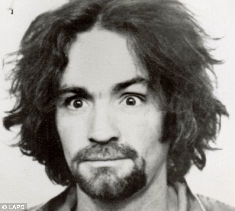 Arrest: Charles Manson at age of 34 in 1969 - after he was arrested for his part in the Sharon Tate murders carried out under his orders aft...