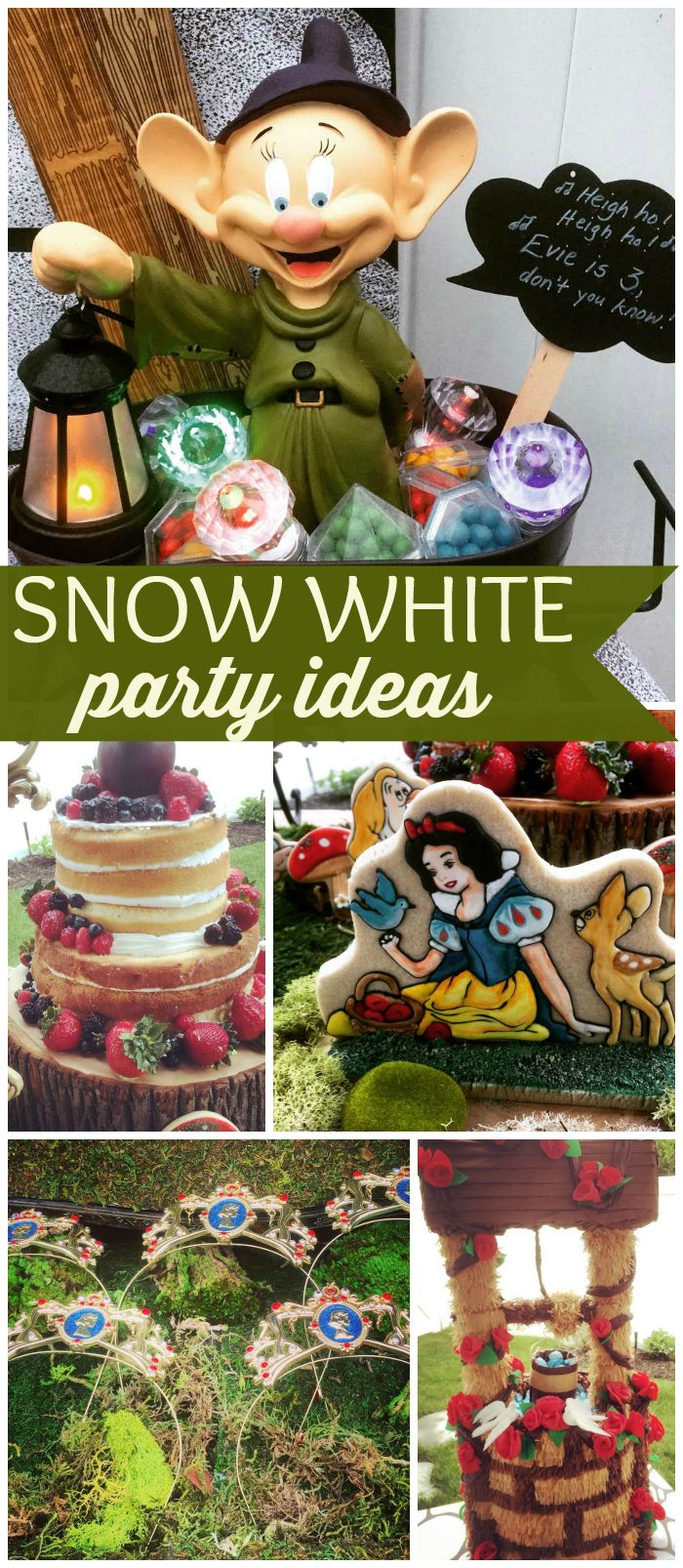 This Snow White party has such gorgeous details! See more party ideas at CatchMyParty.com!