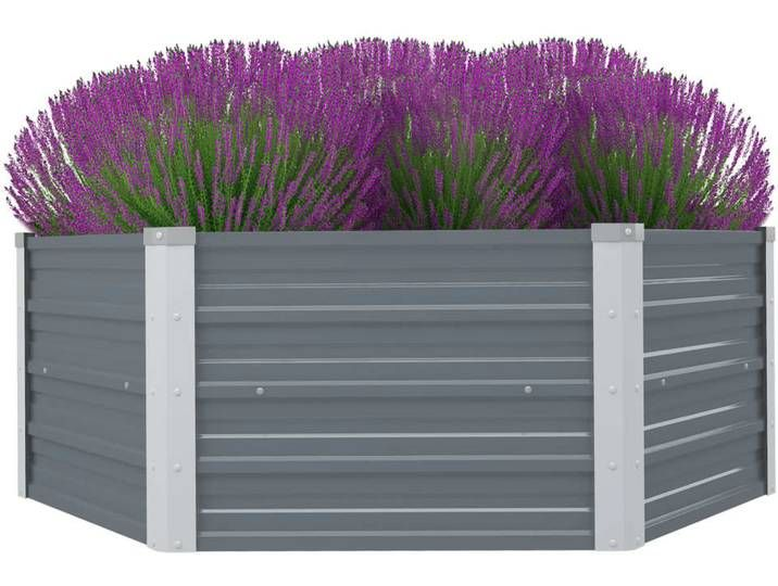 Vidaxl Hochbeet 129 X 129 X 46 Cm Verzinkter Stahl Grau Outdoor Decor Outdoor Furniture Outdoor Storage
