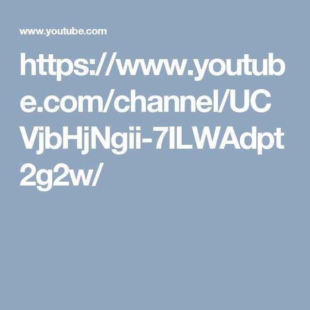 https://www.youtube.com/channel/UCVjbHjNgii-7ILWAdpt2g2w/