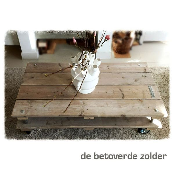 Houten Salontafel Double