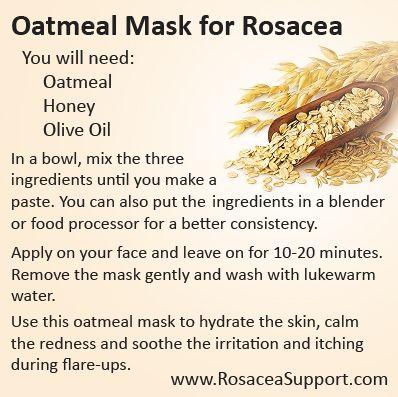 Oatmeal Rosacea Mask