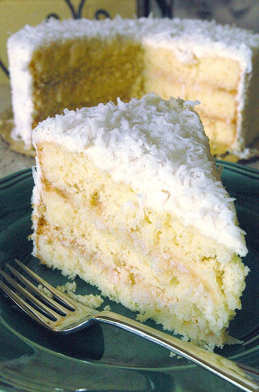 THE Coconut Layer #Cake recipe from Southern Sweets Bakery in Atlanta #Georgia