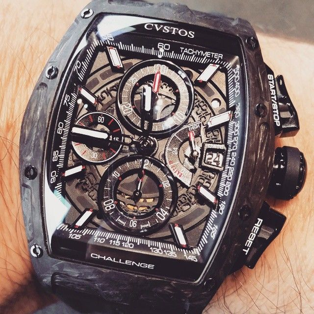 New Cvstos Challenge Chrono in forged carbon.