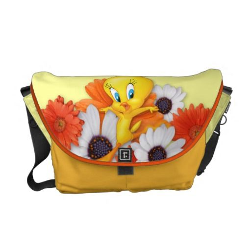 Tweety With Daisies Courier Bag....LOVE IT!!