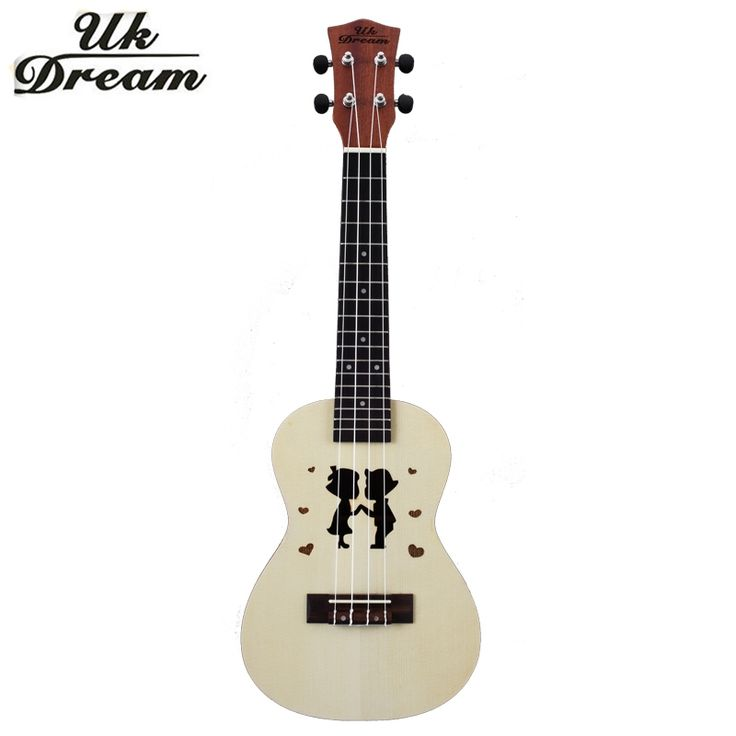 (51.45$)  Buy here - http://aihyo.worlditems.win/all/product.php?id=32792913715 - Mini Wooden Guitar 23 inch Ukulele Couple Models Spruce Sapele Mini Hawaii Small Color Small Guitars 4 Strings Guitarra  UC-Hand