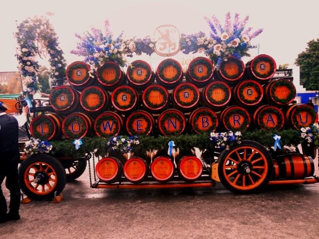 Barrels of beer.